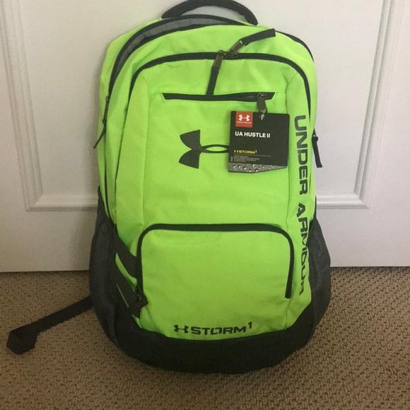 131b1f055eb1 Neon green under armour bookbag